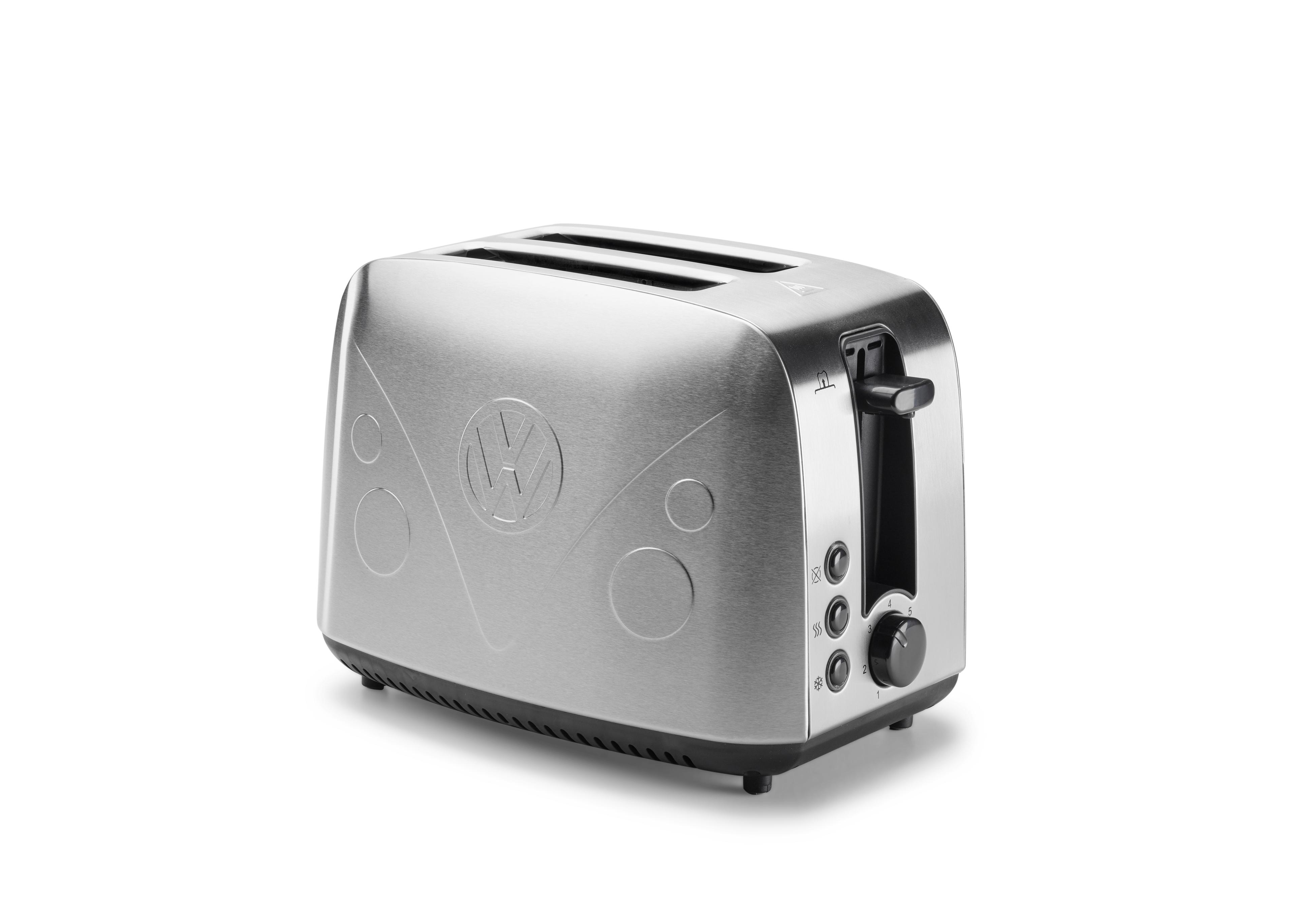 original vw bulli t1 toaster edelstahl mit r stlogo silber ebay. Black Bedroom Furniture Sets. Home Design Ideas