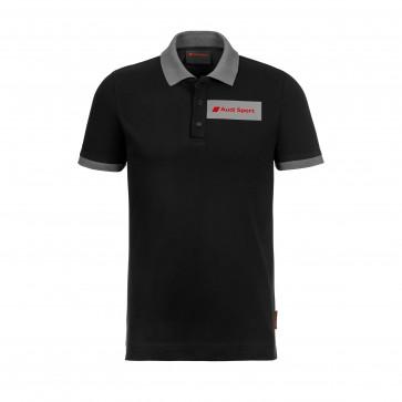 Original Audi Sport Poloshirt, Herren, schwarz