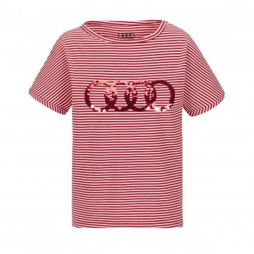 Audi Shirt Mädchen, Kinder, rot/weiß