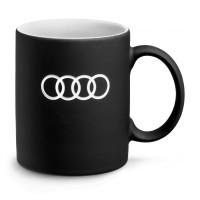 Original Audi Sport Tasse, Audi Ringe, schwarz, 350 ml, 3291900500