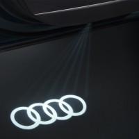 Original Audi Einstiegsleuchten Ringe