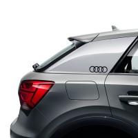 Original Audi Dekorfolie Audi Ringe in Brilliantschwarz 8W0064317E