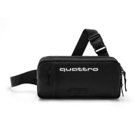 Original Audi Quattro Hip Bag, schwarz