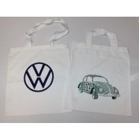 Original Volkswagen Tragetasche, Motiv Käfer Beetle / neues Volkswagen Logo Set