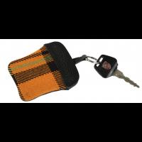 Porsche Schlüssel-Etui Schottenkaro orange