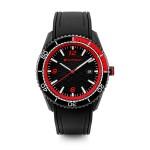 Original Audi Sport Uhr, Herren, schwarz/rot