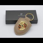 Porsche Schlüsselanhänger Wappen-Braun