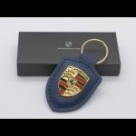 Porsche Schlüsselanhänger Wappen-Blau