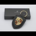 Porsche Schlüsselanhänger Wappen-Schwarz