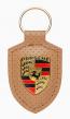 Porsche Schlüsselanhänger Wappen / Braun - WAP0500900LHRT