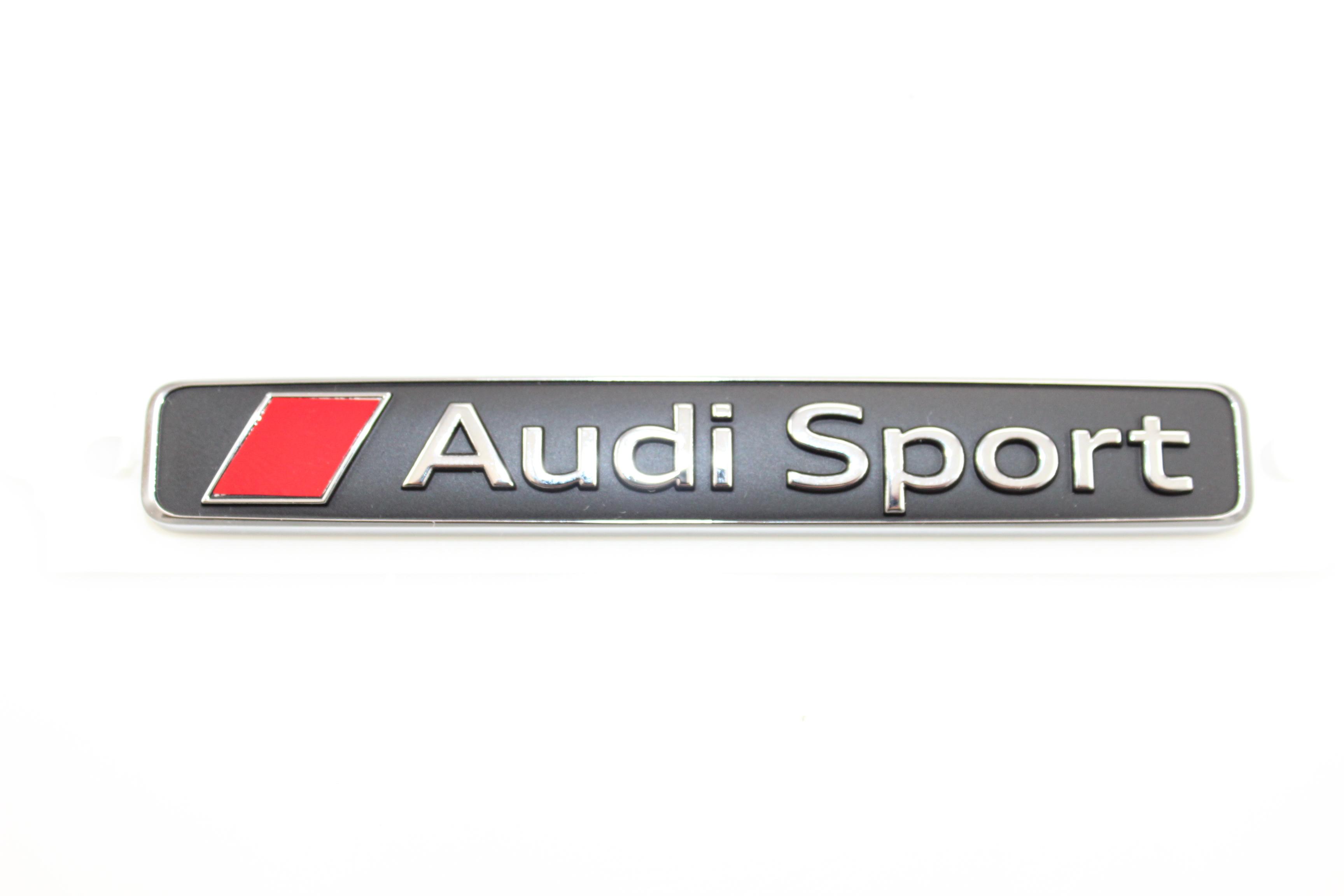 original audi sport schriftzug r8 logo chrom 4s0853737d. Black Bedroom Furniture Sets. Home Design Ideas